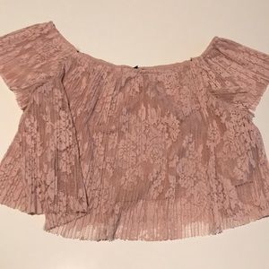 Forever 21 Pink Lace top Size M